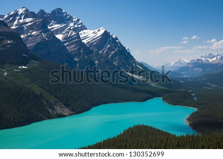 Peyto Lake in Banff National Park, Canada - stock photo