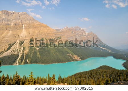 Peyto Lake in Banff National Park, Canadian Rockies - stock photo