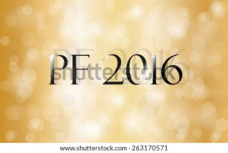 PF 2016. Happy new year greeting card. - stock photo