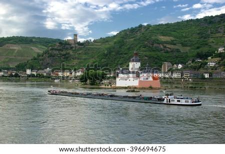 Pfalzgrafenstein Castle, Germany - stock photo