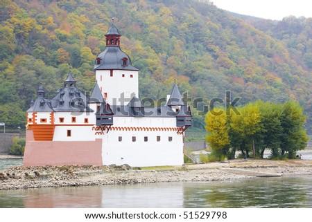 Pfalzgrafenstein Castle, Rhineland-Palatinate, Germany - stock photo