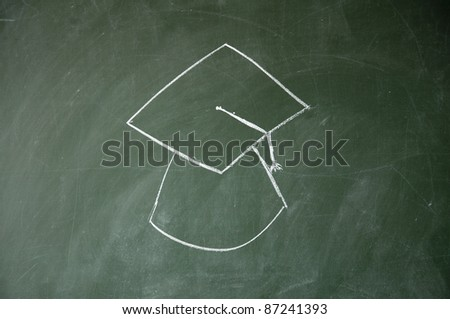 Ph. D.cap - stock photo