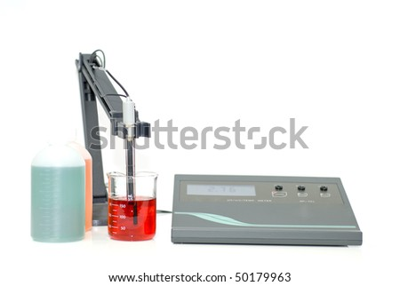 pH meter - stock photo