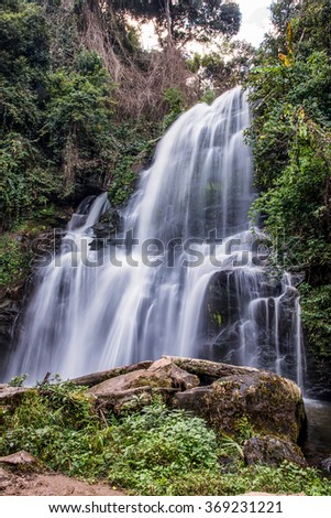 Pha Dok  Seaw or Rak Jang is name most famous waterfall in Doi Inthanon National Park,Thailand.