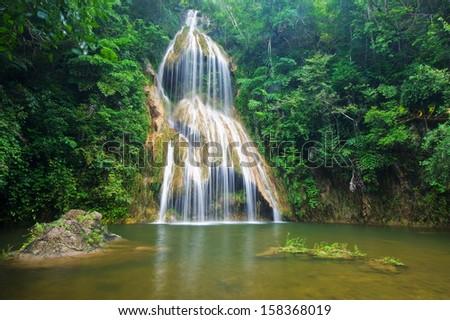 Pha nam yod waterfall, Thailand - stock photo