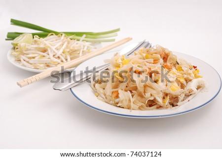 Phad thai, Fried noodle - stock photo