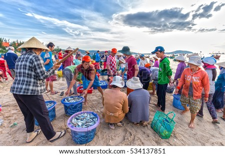 Phan thiet vietnam july 26th 2016 stock photo 534139567 for Village fish market