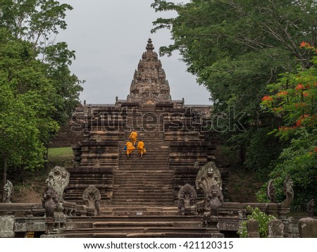 Phanom Rung Temple in  Buriram,Thailand. - stock photo