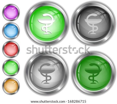 Pharma symbol. Raster internet buttons.  - stock photo