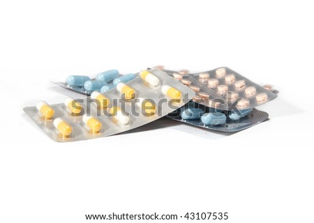 Pharmaceutical Drugs  isolated on White