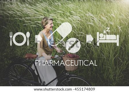 Pharmaceutical Medical Health Proper Care Concept - stock photo