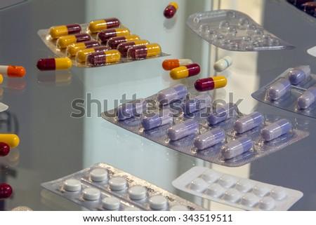 pharmaceutical production - stock photo