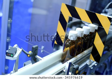 Pharmacology and health, equipment for the manufacture of drugs - stock photo