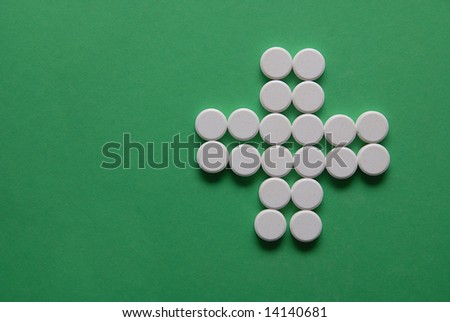pharmacy concept with pills - stock photo