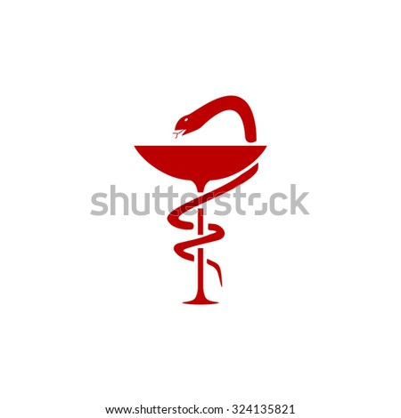 Pharmacy Logo Snake Red Real Clipart And Vector Graphics