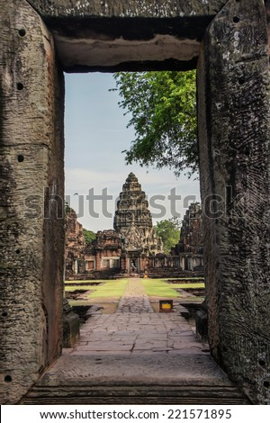 Phi mai historical park in Thailand  - stock photo