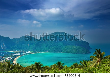 Phi-Phi Don Island, Andaman Sea, Thailand - stock photo