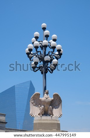 Philadelphia Architecture mixing old and new as the city grows - stock photo