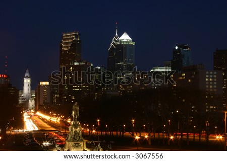 Philadelphia at Night - stock photo