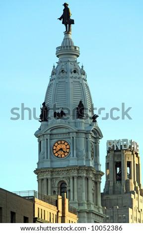"Philadelphia City Hall ""William Penn building - stock photo"