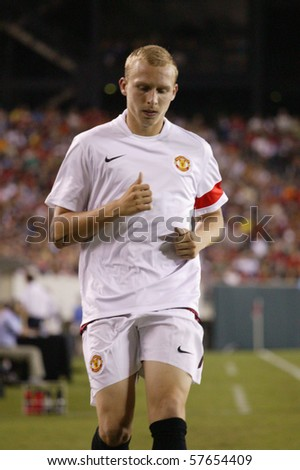 PHILADELPHIA - JULY 21 : player of Manchester United team in action during match against Philadelphia Union on July 21, 2010 in Philadelphia.