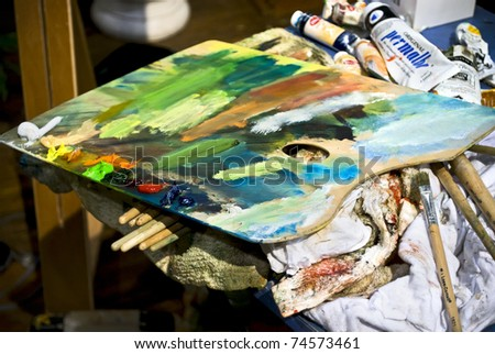 Art palette stock photo 111437297 shutterstock for Craft fair in philadelphia pa