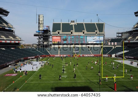 PHILADELPHIA - OCTOBER 30: Lincoln Financial Field, home of the Philadelphia Eagles and Temple Owls, shown prior to an Owl football game October 30, 2010 in Philadelphia