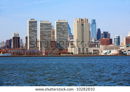 Philadelphia Pa. city skyline - stock photo