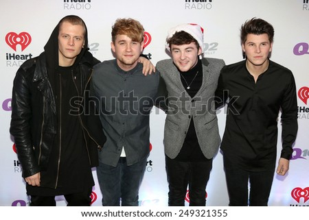 PHILADELPHIA, PA - December 10, 2014: Rixton attends the Q102's Jingle Ball at the Wells Fargo Center on December 10, 2014 in Philadelphia.  - stock photo