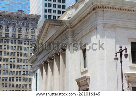 Philadelphia, Pennsylvania in the United States. Old bank building. - stock photo