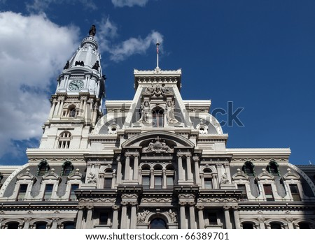 Philadelphia's landmark historic City Hall building.