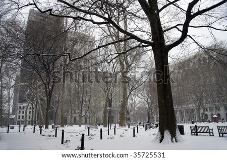 Philadelphia snow - stock photo