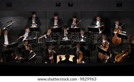 Philharmonic orchestra of Bolshoi Theatre - stock photo
