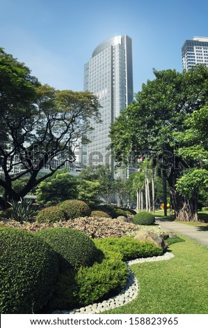 Philippine Stock Exchange Building, Manila - Philippines. - stock photo