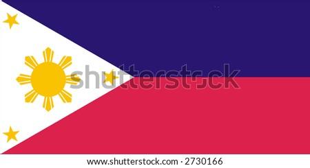 Philippines flag - stock photo