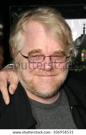 Phillip Seymour Hoffman  at the Los Angeles Premiere of 'Doubt'. AMPAS, Beverly Hills, CA. 11-18-08 - stock photo