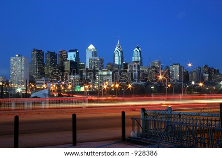 Philly at Night - stock photo