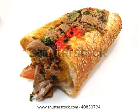 Philly Cheesesteak with Spinach and Prosciutto