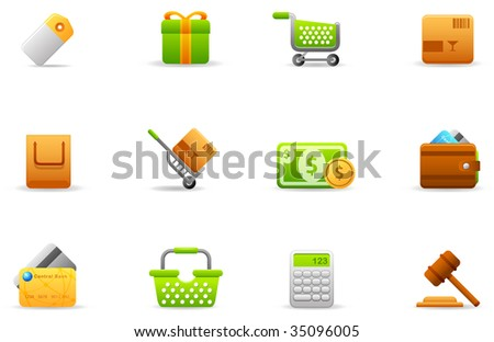 Philos icons - set 4   Store and eCommerce - stock photo