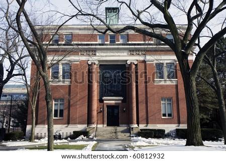 Philosophy Building in Harvard univercity in Cambridge city - stock photo