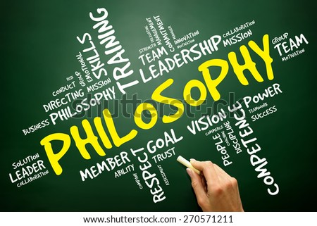 Philosophy word cloud, business concept - stock photo
