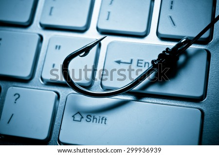 phishing attack - stock photo