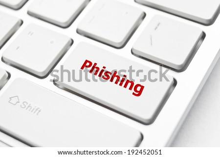 phishing button - stock photo