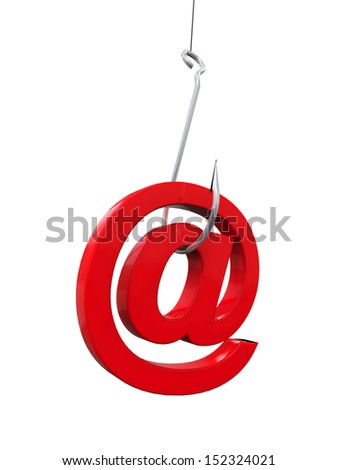 Phishing Fraud Online - stock photo
