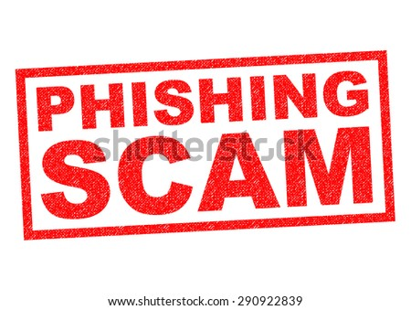 PHISHING SCAM red Rubber Stamp over a white background. - stock photo