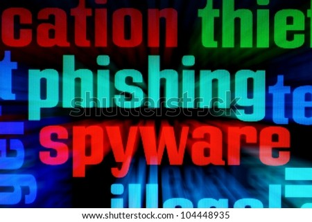 Phishing spyware - stock photo