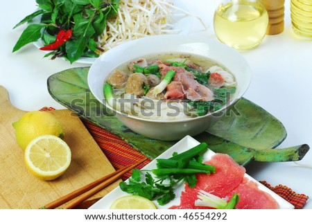 pho tai Vietnamese - stock photo