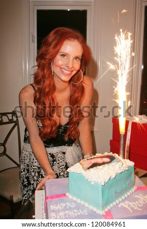 Phoebe Price at her birthday party. Private Location, Los Angeles, CA. 10-11-06