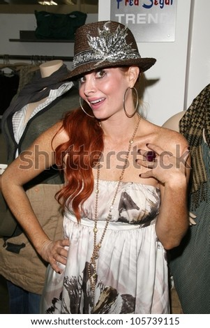 Phoebe Price  at the FEED LA Launch Party. Fred Segal, Santa Monica, CA. 03-12-09