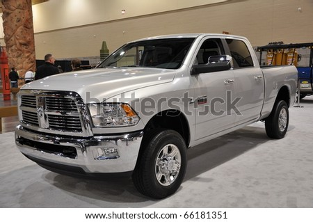 PHOENIX, AZ - NOV 25: Dodge RAM at the Arizona International Auto Show on November 25, 2010 in Phoenix, Arizona - stock photo